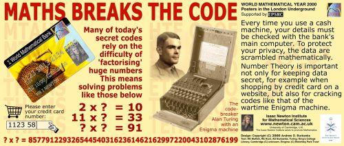 Matematik Şifreleri Çözer Matematik Afişi