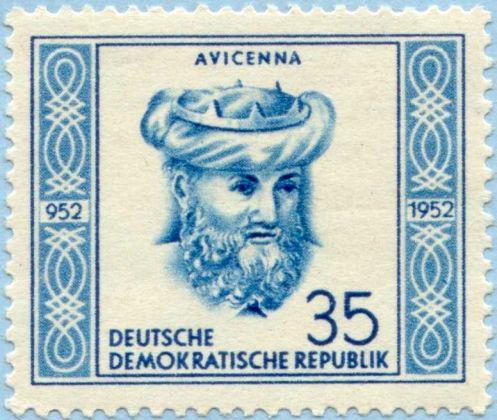 Demokratik Almanya 1952 İbni Sina Pulu